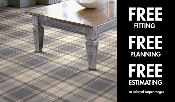 Free Fitting, Free Planning and Free estimating on a selected range of carpets